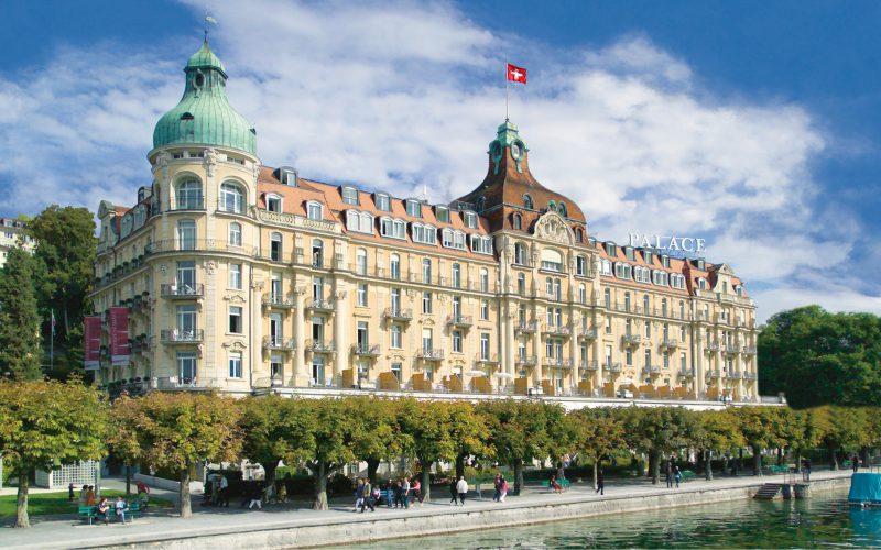 Sicht auf das Hotel Palace in Luzern.