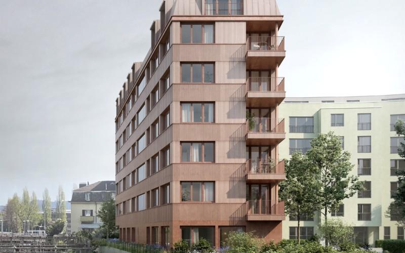 Visualisierung des Projekts Arkum in Luzern.