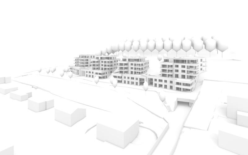 Modell des Projekts Steinbären in Triengen.