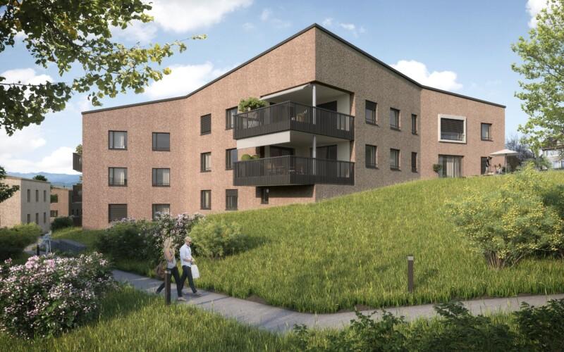 Aussenvisualisierung der Überbauung Sonnefeld in Ruswil.