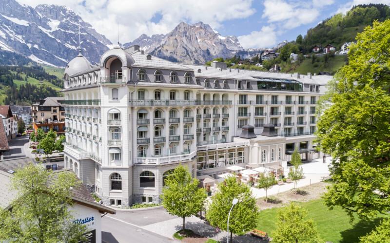 Aussenaufnahme Hotel Kempinski Palace Engelberg Titlis.