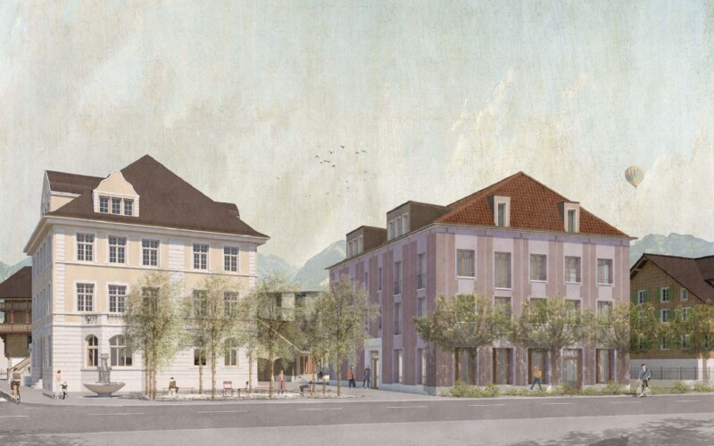Visualisierung von der Brünigstrasse in Sarnen.
