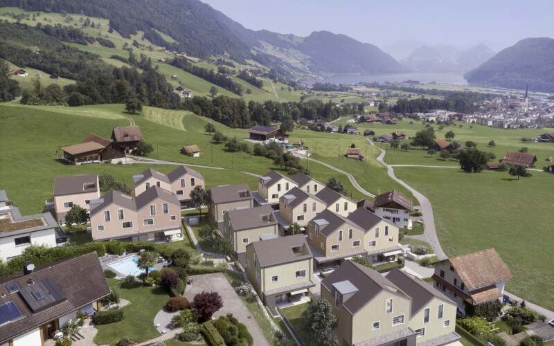 Das neue Wohnquartier viva vista im Schoried in Alpnach